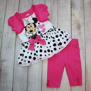 DISNEY 18 Month Girls Outfit Minnie Mouse Pink